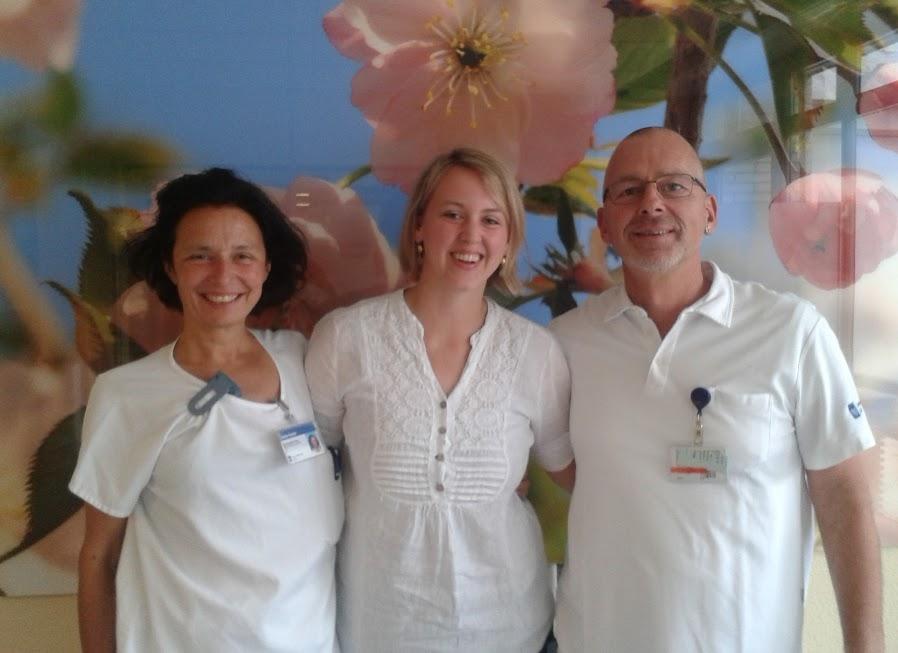 Team der Palliative Care am USZ: Sabine Fischer, Sarah Wiefels, Markus Feuz (v.l.n.r.) / Foto: Sarah Wiefels